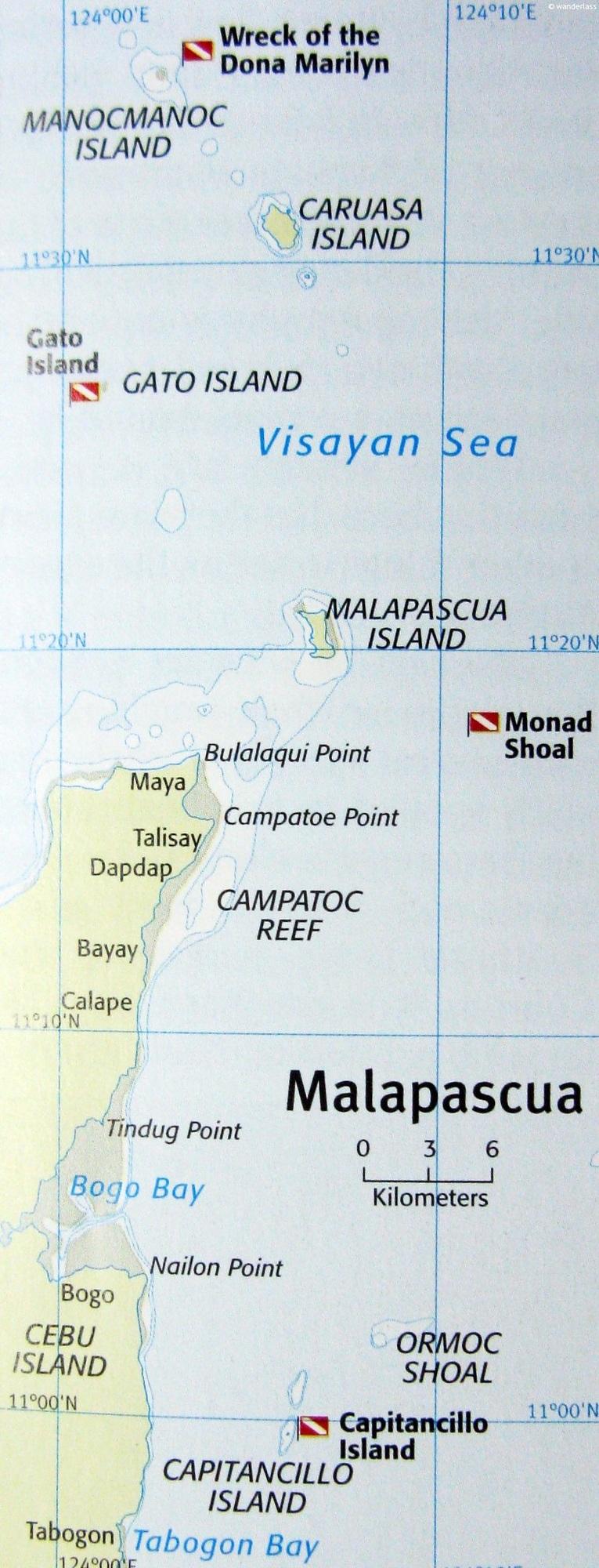malapascua dive map