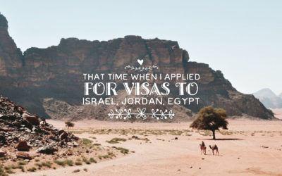 Israeli, Jordanian, Egyptian Visas for Philippine Passport Holders