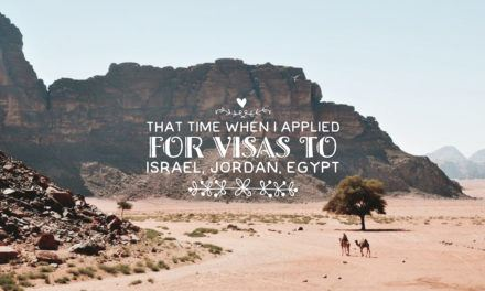 Israeli, Jordanian, Egyptian Visas for Philippine Passport Holders