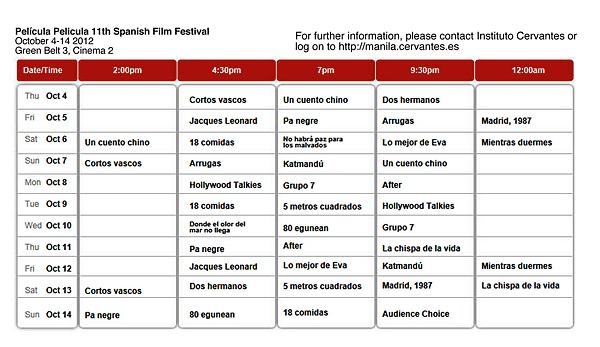 Spanish Film Festival in Manila