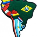 south america map flags