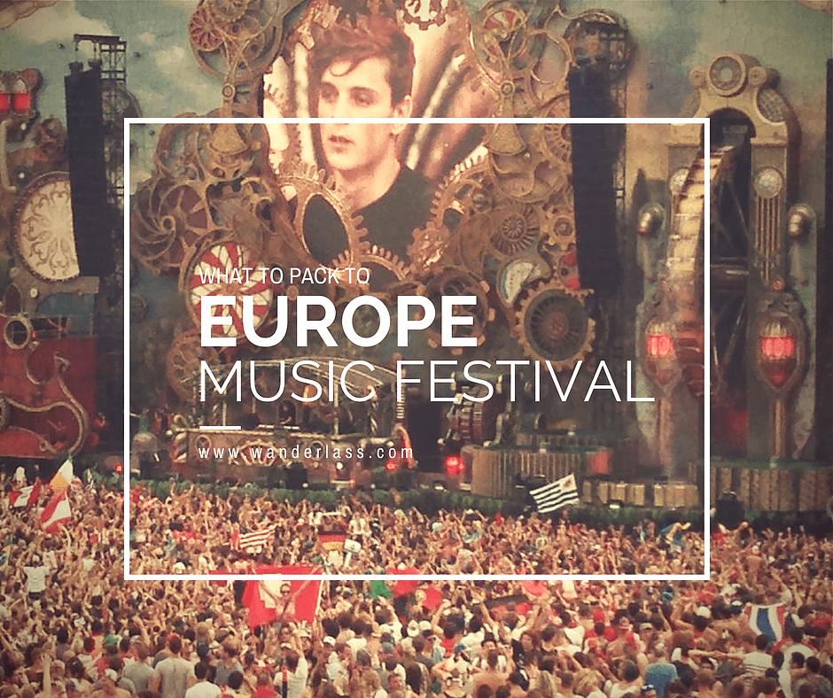 Packing for Summer Festival in Europe