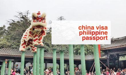 Chinese Visa for Philippine Passport Holders (UPDATE 2019)