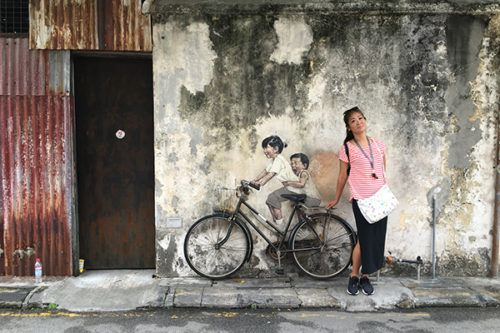 Top Attractions in Penang Kids on Bicycle