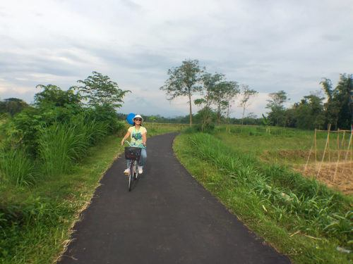 borobudur village biking