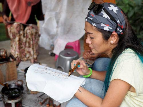 Batik Making in Borobudur Village