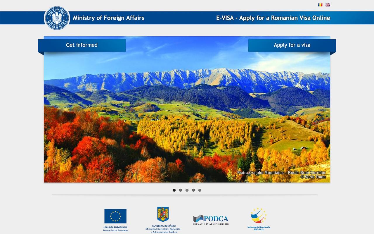 Romania Evisa Portal