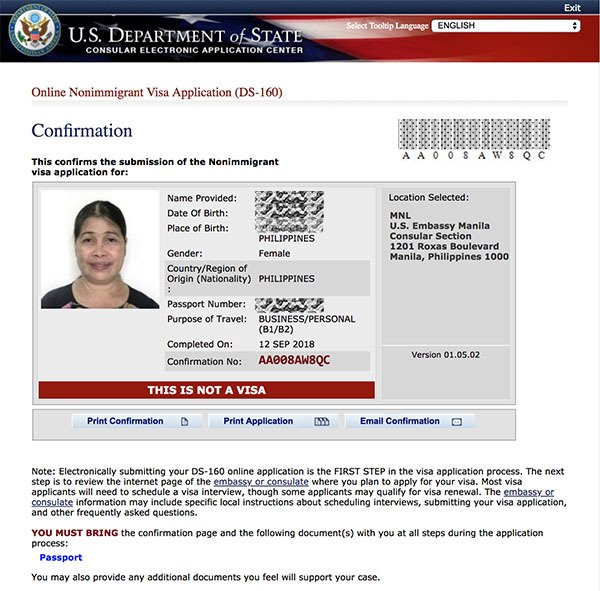 US VISA CONFIRMATION PAGE - How Many Days To Get Us Visa After Interview